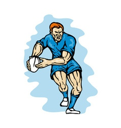 Rugby ball passing vector