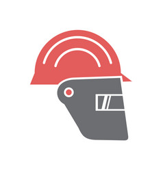 Safety face protection icon on white background vector