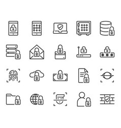 security and protection related icon set vector image