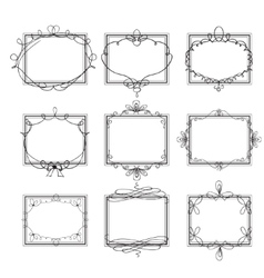 set decorative frames vector image