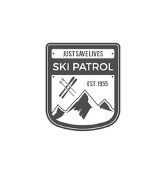 Ski Patrol Label Vintage Mountain adventure vector image