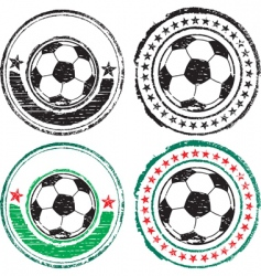 soccer ball stamps vector image