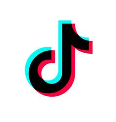 social media tiktok logo design vector image