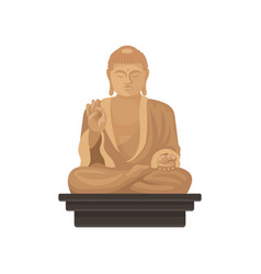 Statue of big buddha famous historical monument vector
