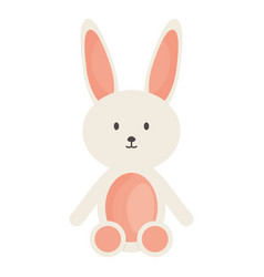 Stuffed bunny toy entertainment square frame and vector