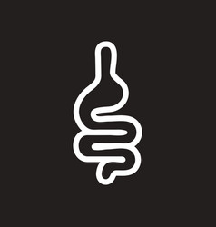 Stylish black and white icon human intestine vector