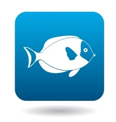 Surgeon fish icon simple style vector