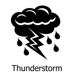 Thunderstorm icon simple style vector
