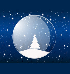 transparent snow globe holiday toy vector image