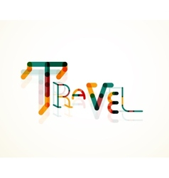 Travel word font concept vector