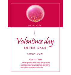 valentines day party flyer va vector image