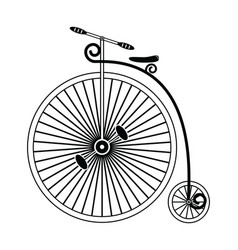 Vintage bike type 1 in black and white design vector