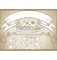 Vintage graphic element for first course menu vector