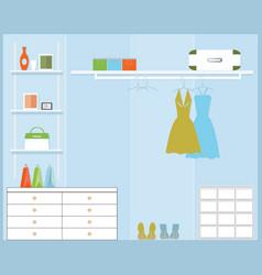 walk in closet vector image
