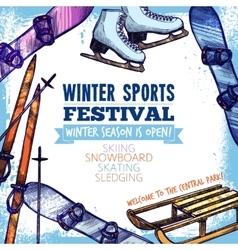 Winter Sport Poster vector image