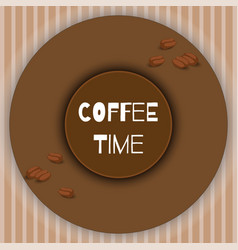 with coffee beans decorative elements and vector image
