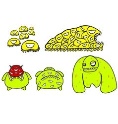 yellow monster vector image