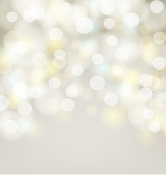 Abstract silver bokeh simple background vector image vector image