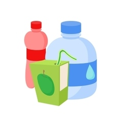 Assortment of beverages icon cartoon style vector image