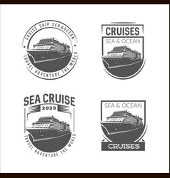 cruise logo design template vector image vector image
