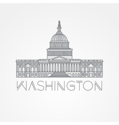 Washington DC US Capitol Building vector image vector image