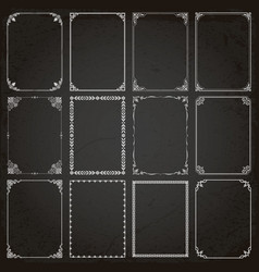 decorative frames and borders rectangle vector image