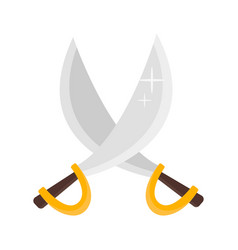 Pirate crossed swords vector