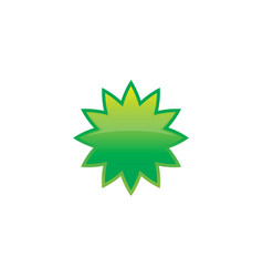 Abstract leaf eco logo vector