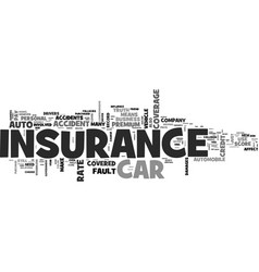 auto insurance myths you should know about text vector image vector image