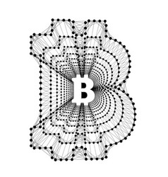 bitcoin - electronic form of money and innovative vector image