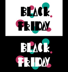 black friday 3 - postcard and banner vector image