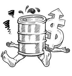 doodle squish oil barrel vector image