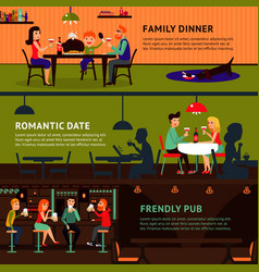 eating people horizontal banners vector image vector image
