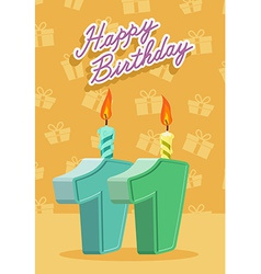 11 years celebration 11nd happy birthday vector image vector image