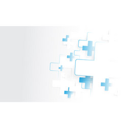 abstract white and blue medical crosses sign vector image
