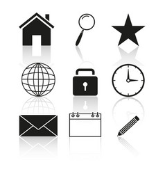contact of set icon vector image vector image