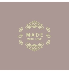 Eastern Design Hand Made Trademark vector image