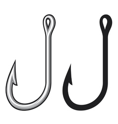 fishing hook vector image vector image