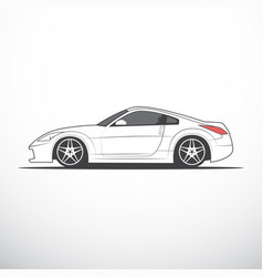 sketch of japan sport car vector image vector image