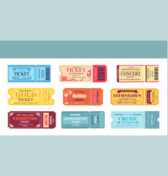 theatre and cinema tickets set vector image