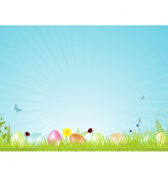 tranquil Easter background vector image