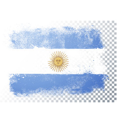 abstract grunge flag argentina vector image