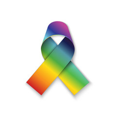 All cancers awarn ribbon on white vector
