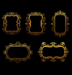 antique golden frames vector image