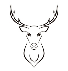 Beautiful Deer Head Object vector