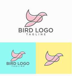 beautiful flying bird logo design vector image