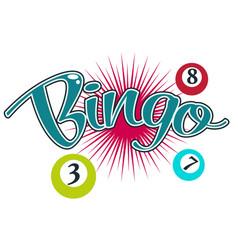 bingo gambling game casino club isolated icon vector image