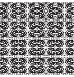 black and white baroque seamless border battern vector image