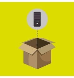 Box control remote tv vector