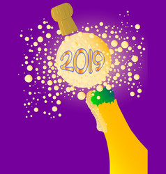 bubbly new year 2019 vector image
